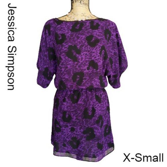 Jessica Simpson Casual Mini Dress Purple